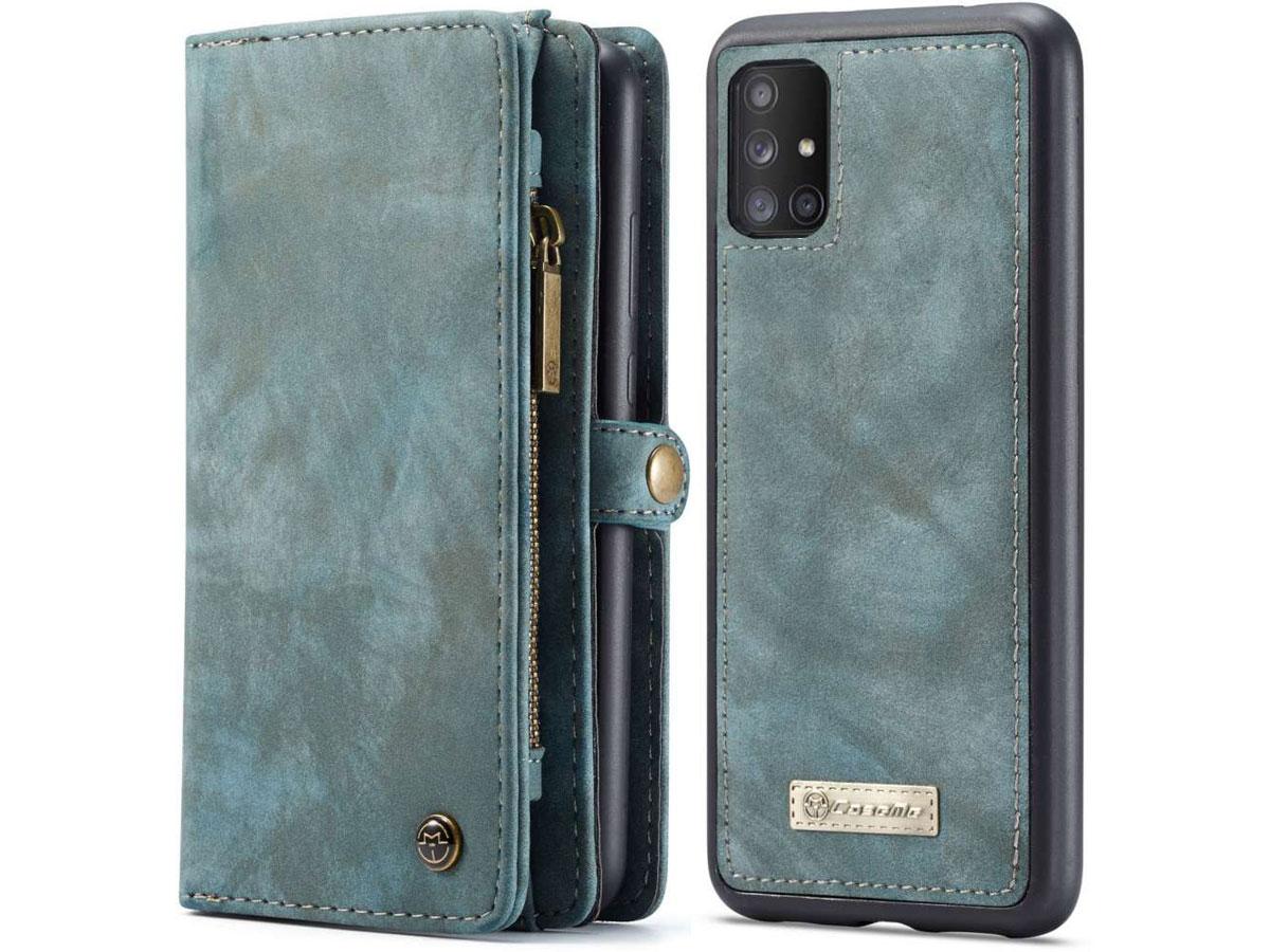 CaseMe 2in1 Wallet Ritsvak Case Blauw - Samsung Galaxy A71 Hoesje