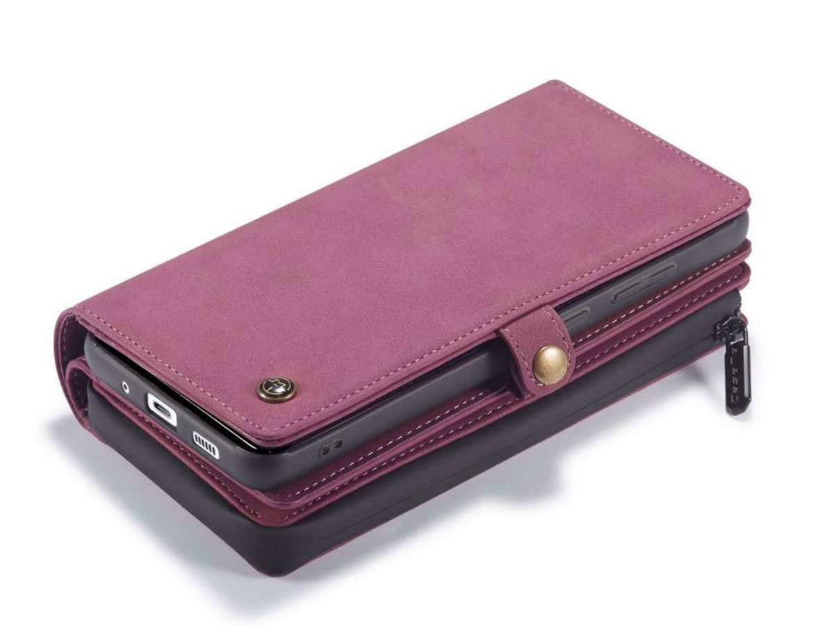 CaseMe Multi Wallet Ritsvak Case Rood - Samsung Galaxy A71 Hoesje