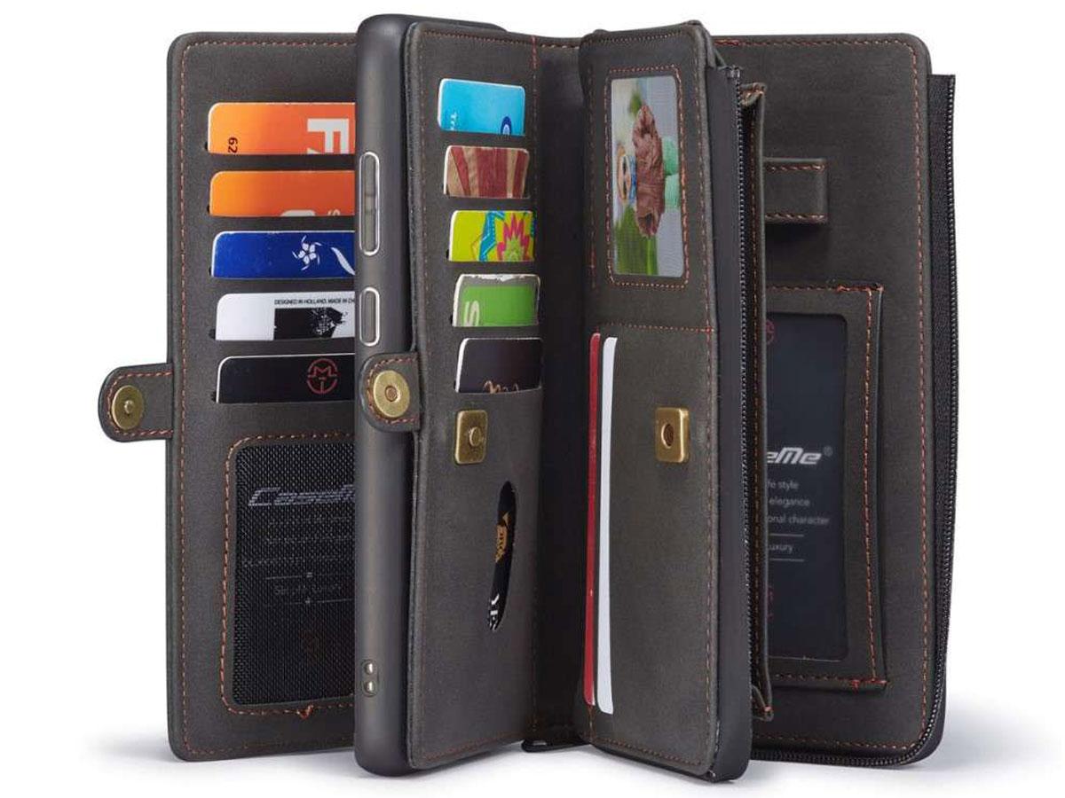 CaseMe Multi Wallet Ritsvak Case Zwart - Samsung Galaxy A71 Hoesje