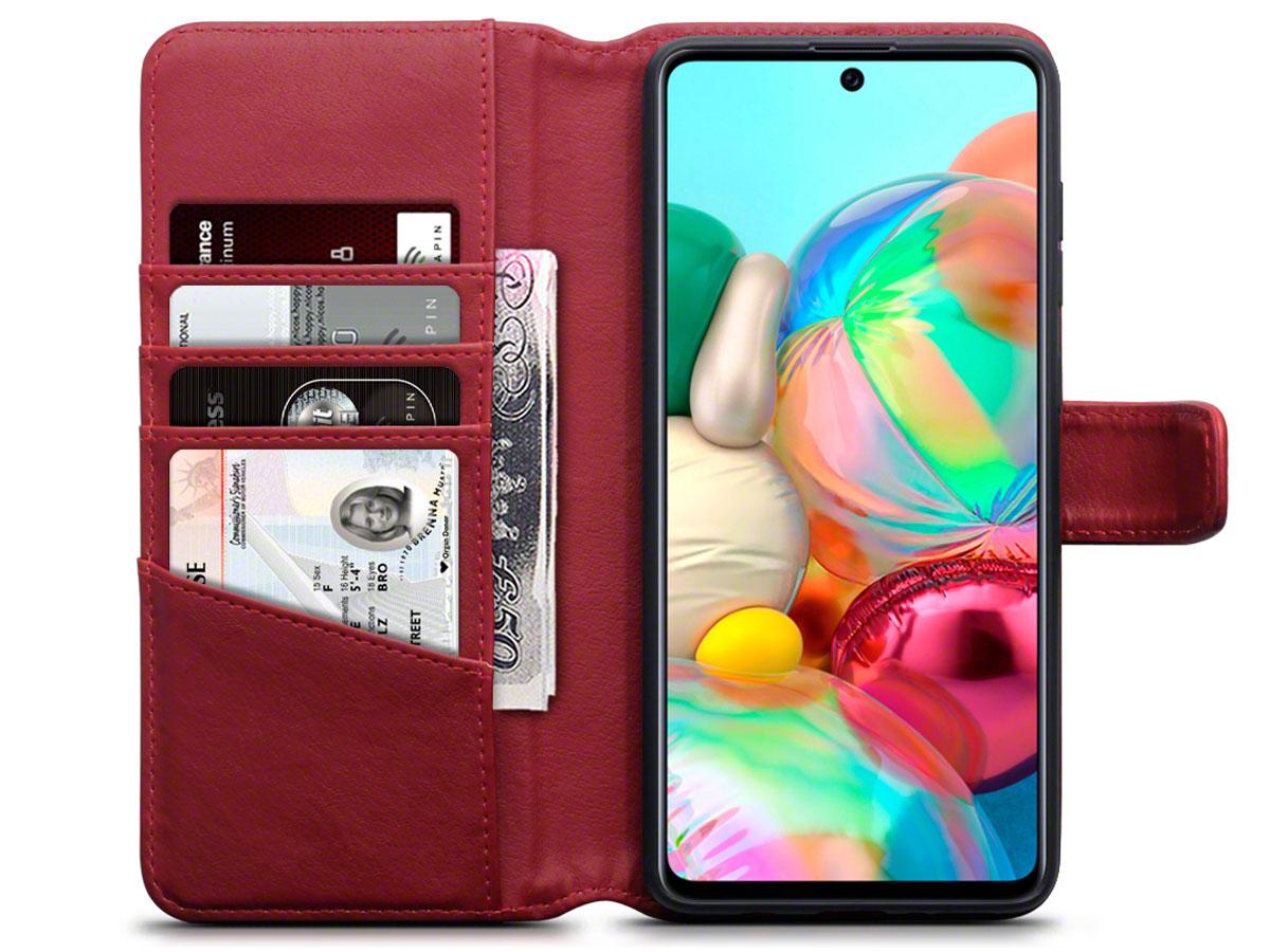 CaseBoutique Wallet Case Rood Leer - Samsung Galaxy A71 hoesje