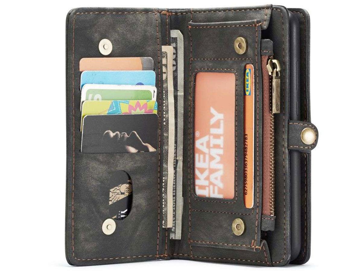 CaseMe 2in1 Wallet Ritsvak Case Zwart - Samsung Galaxy A72 Hoesje