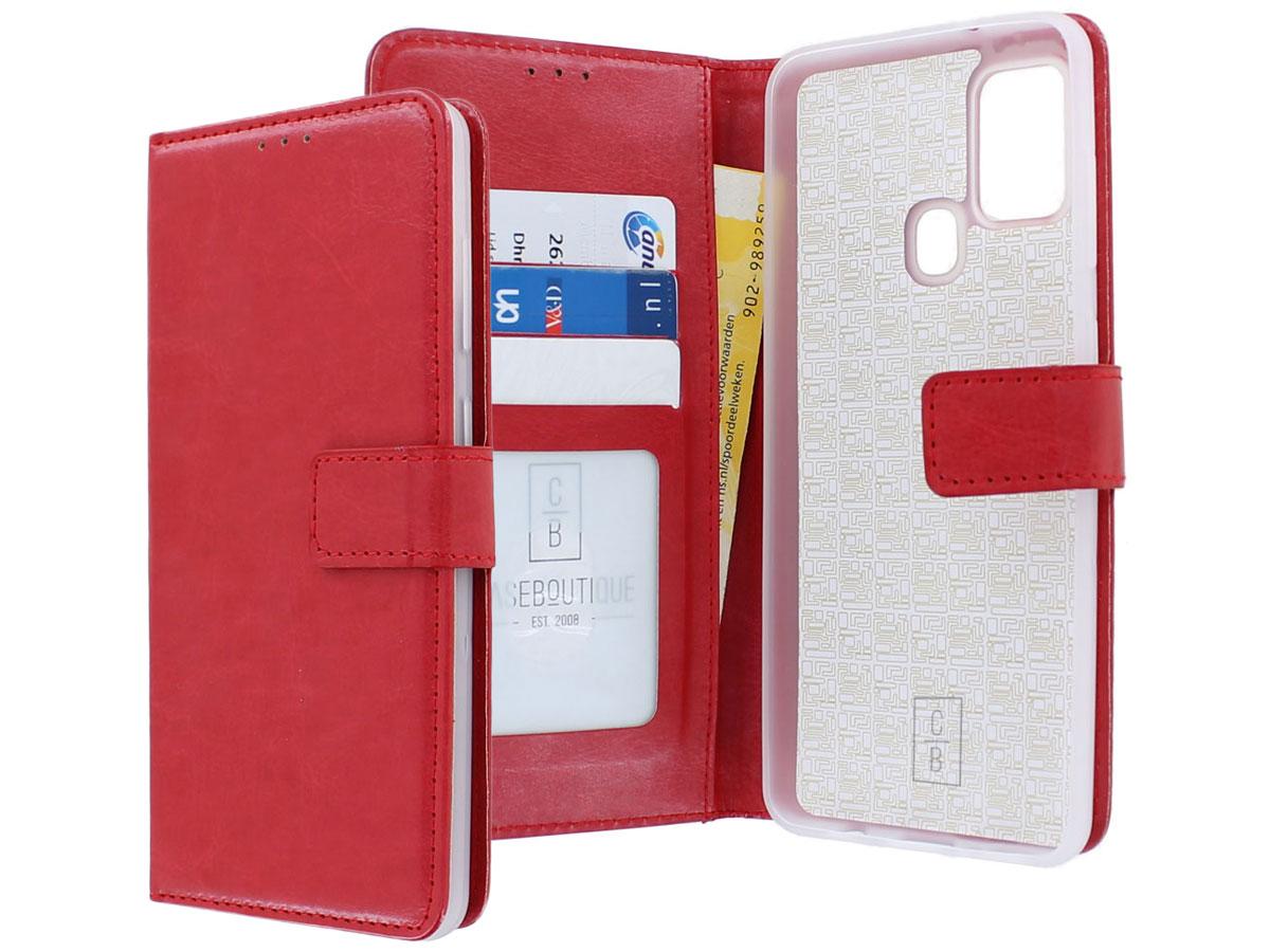 Bookcase Mapje Rood - Samsung Galaxy M21 hoesje