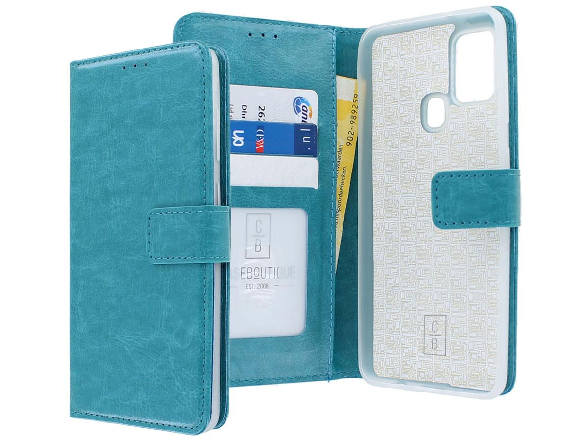Bookcase Mapje Turquoise - Samsung Galaxy M21 hoesje
