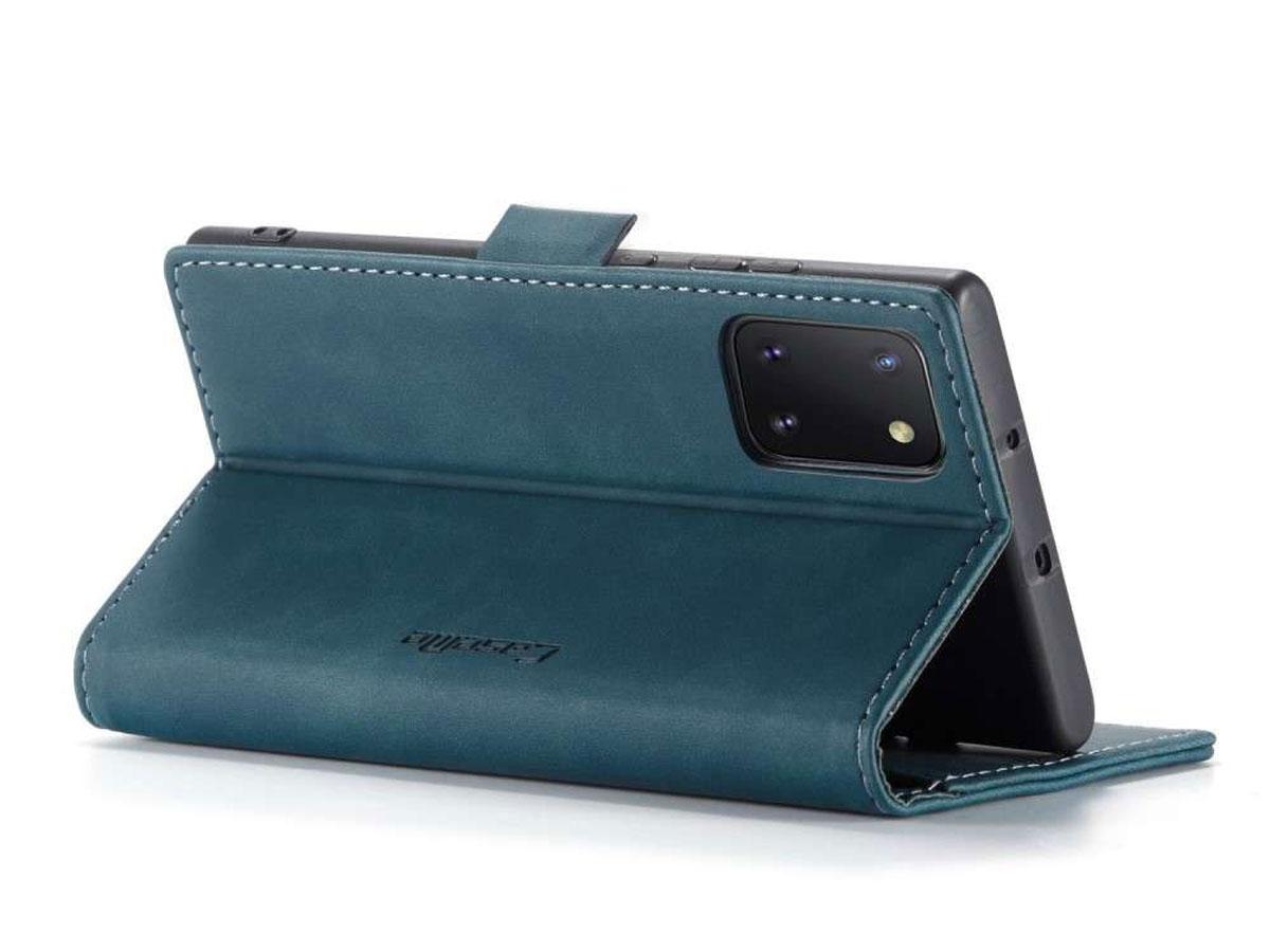 CaseMe Vintage BookCase Blauw - Samsung Galaxy Note 10 Lite hoesje