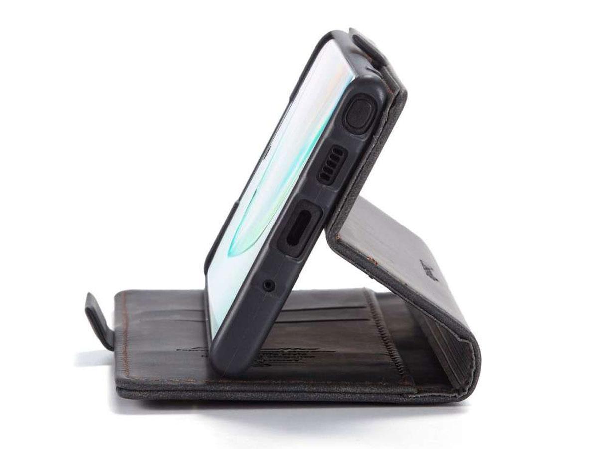 CaseMe Vintage BookCase Zwart - Samsung Galaxy Note 10 Lite hoesje