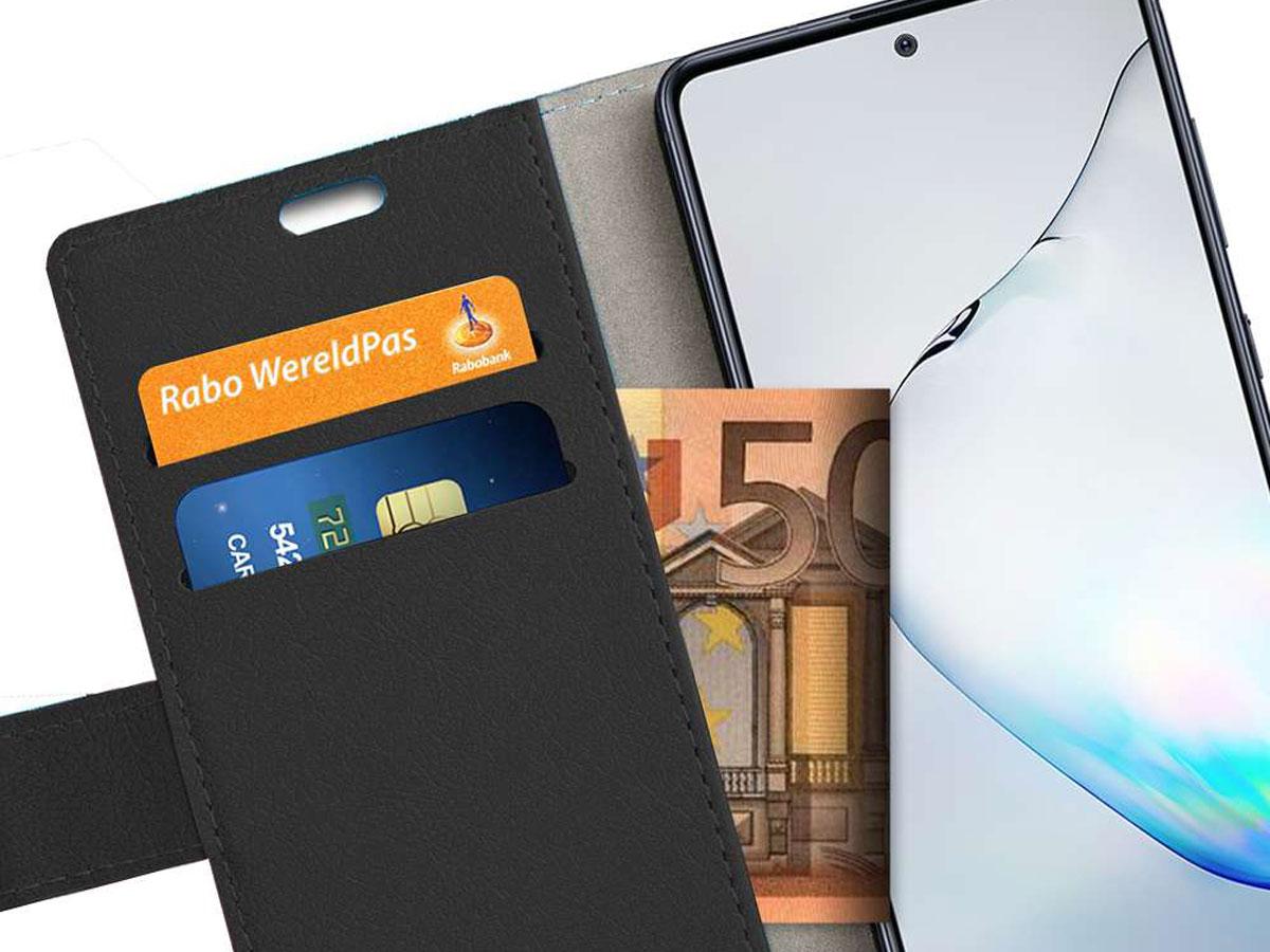 Book Case Mapje Zwart - Samsung Galaxy Note 10 Lite hoesje