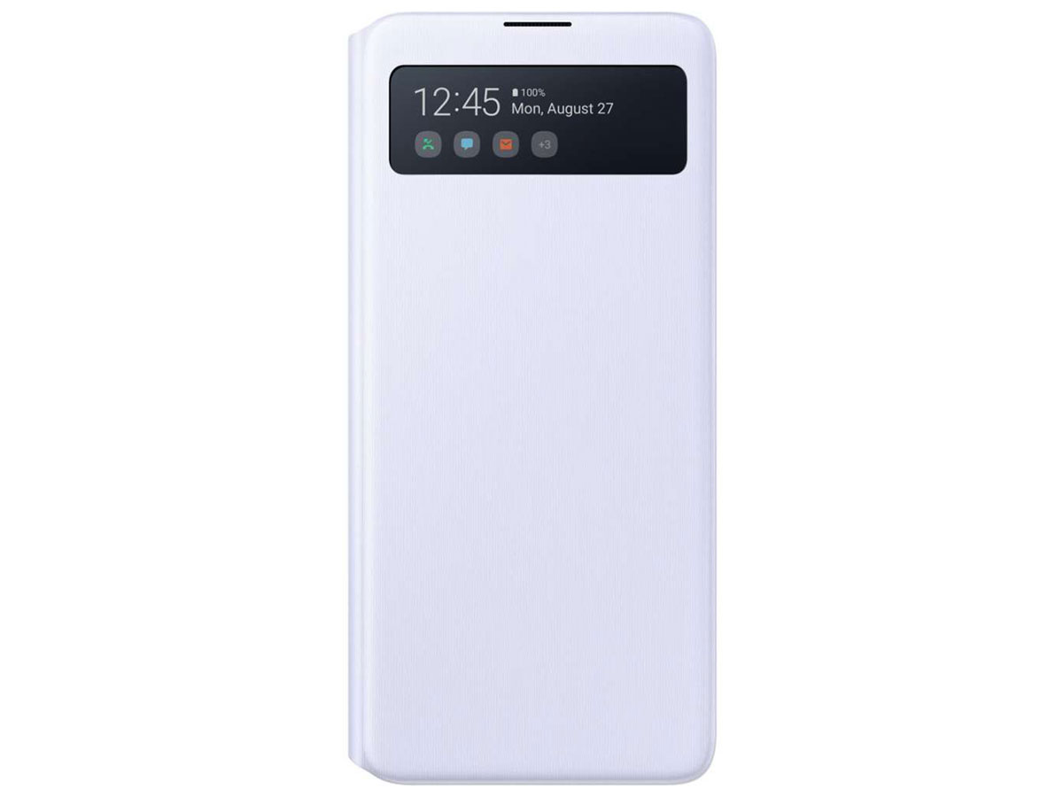 Samsung Galaxy Note 10 Lite S-View Wallet Cover Hoesje Wit