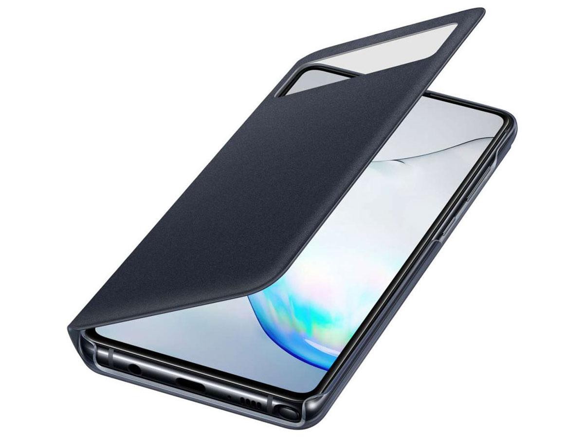Samsung Galaxy Note 10 Lite S-View Wallet Cover Hoesje Zwart