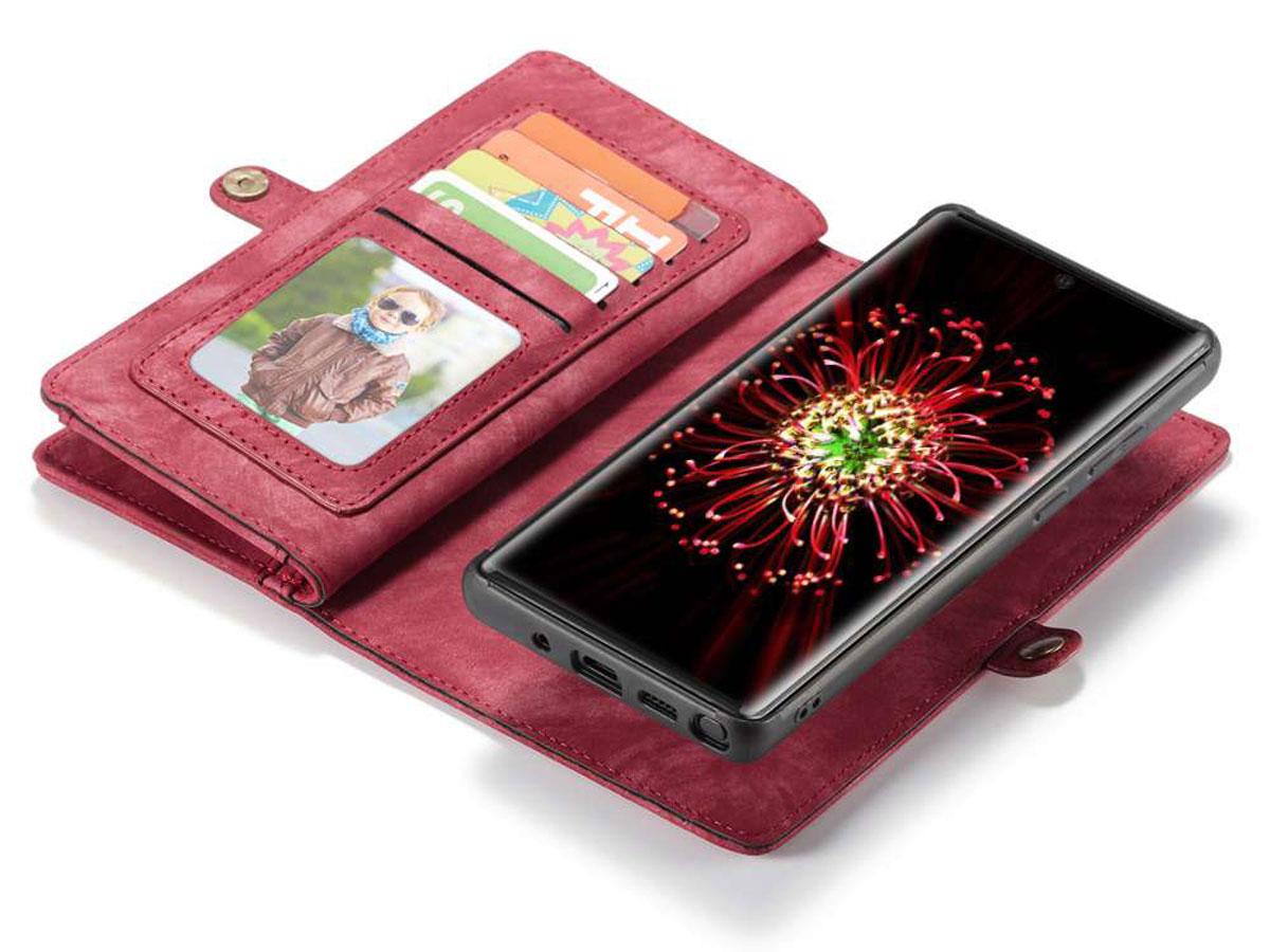 CaseMe 2in1 Wallet Ritsvak Case Rood - Samsung Galaxy Note 20 Hoesje