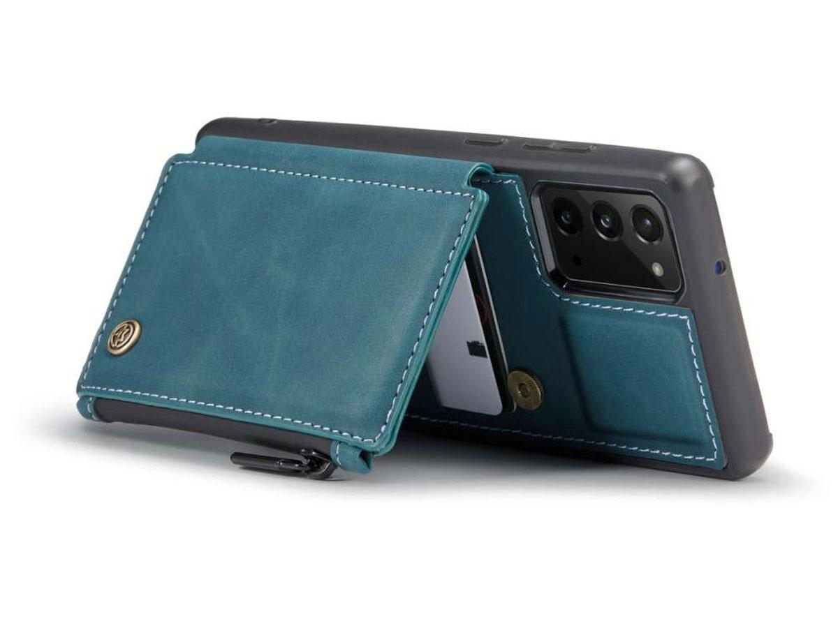 CaseMe Backcase Wallet Blauw - Samsung Galaxy Note 20 hoesje