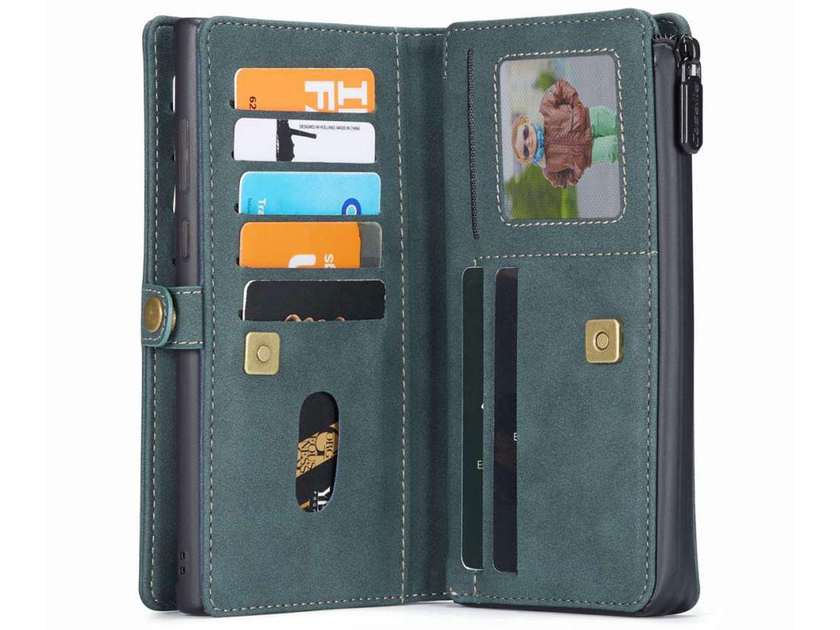 CaseMe 2in1 Multi Wallet Case Blauw - Samsung Galaxy Note 20 Hoesje