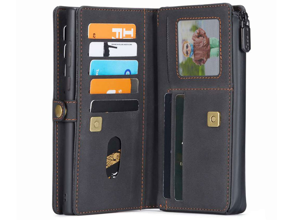 CaseMe 2in1 Multi Wallet Case Zwart - Samsung Galaxy Note 20 Hoesje