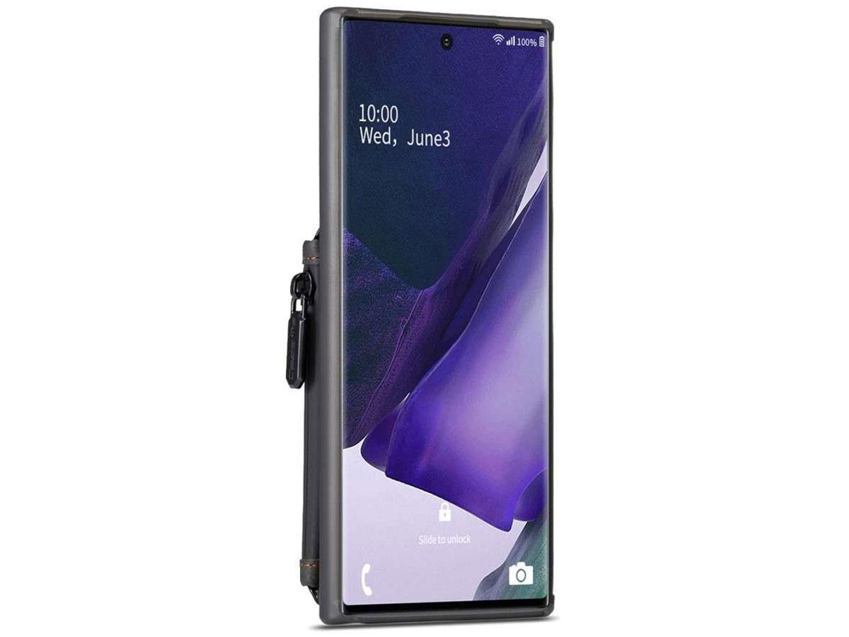 CaseMe Backcase Wallet Zwart - Samsung Galaxy Note 20 Ultra hoesje