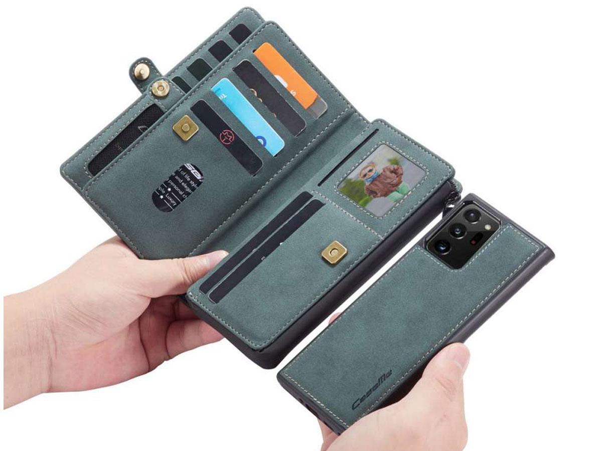 CaseMe 2in1 Multi Wallet Case Blauw - Samsung Galaxy Note 20 Ultra Hoesje