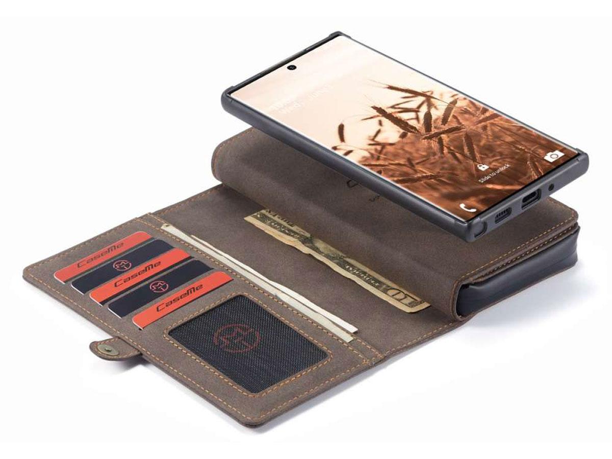 CaseMe 2in1 Multi Wallet Case Bruin - Samsung Galaxy Note 20 Ultra Hoesje