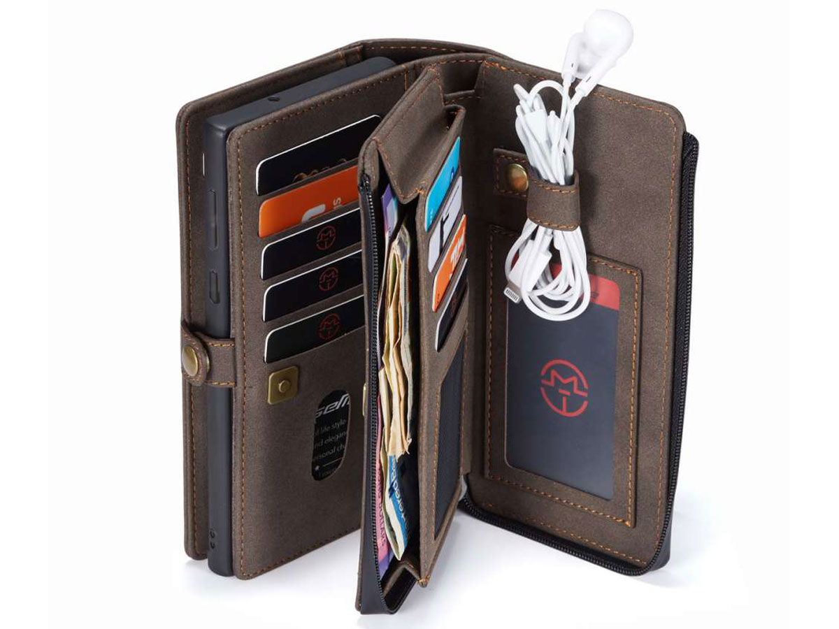 CaseMe 2in1 Multi Wallet Case Bruin - Samsung Galaxy Note 20 Ultra Hoesje