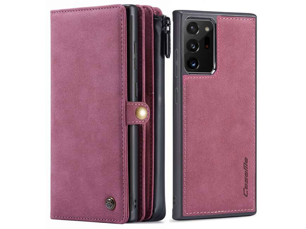 CaseMe 2in1 Multi Wallet Case Rood - Samsung Galaxy Note 20 Ultra Hoesje