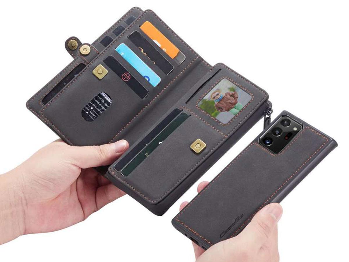 CaseMe 2in1 Multi Wallet Case Zwart - Samsung Galaxy Note 20 Ultra Hoesje
