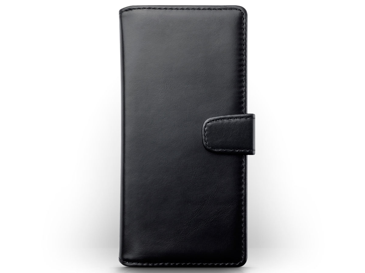 CaseBoutique Wallet Case Zwart Leer - Samsung Galaxy Note 20 Ultra hoesje