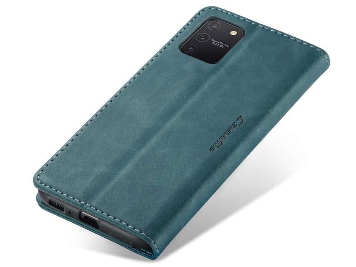 CaseMe Vintage BookCase Blauw - Samsung Galaxy S10 Lite hoesje