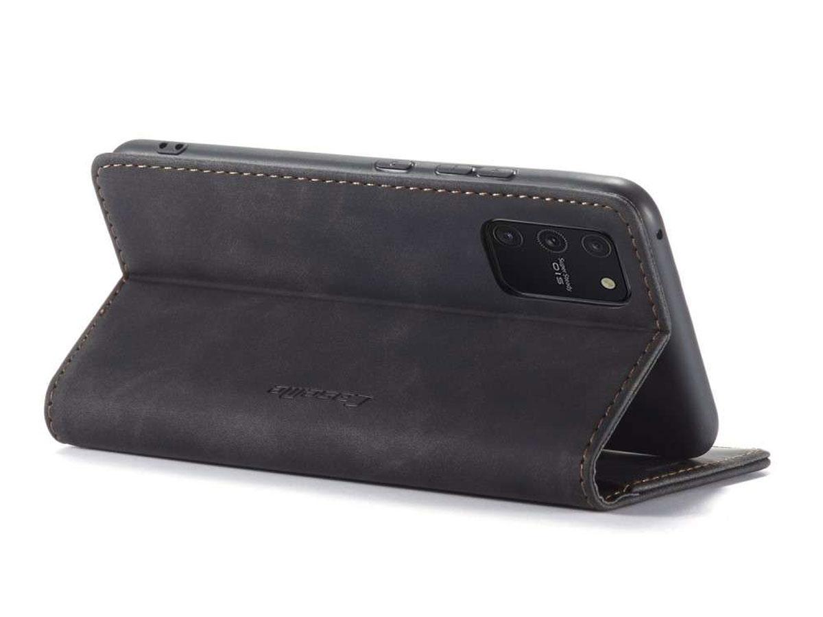 CaseMe Vintage BookCase Zwart - Samsung Galaxy S10 Lite hoesje