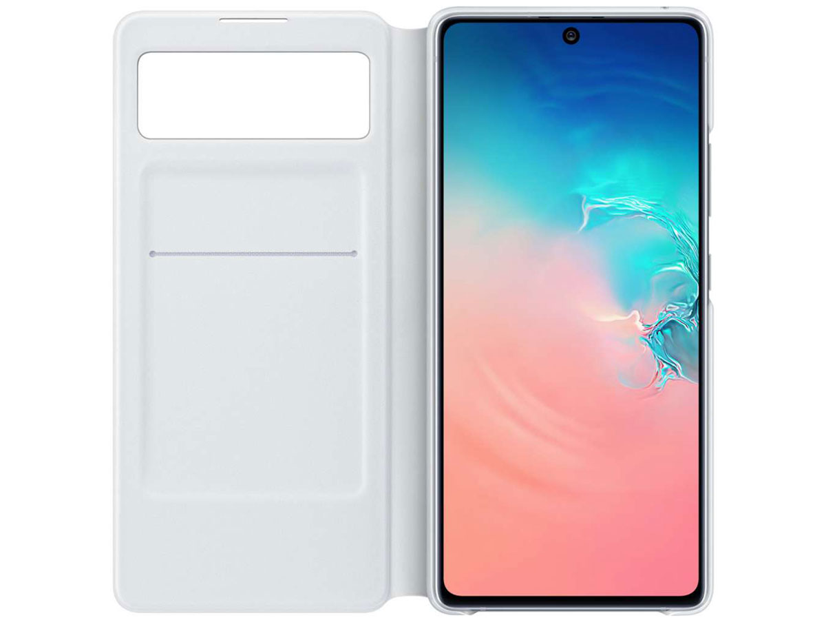 Samsung Galaxy S10 Lite S-View Wallet Cover Hoesje Wit