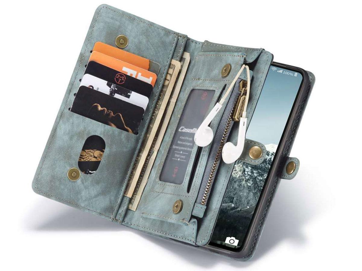 CaseMe 2in1 Wallet Ritsvak Case Blauw - Samsung Galaxy S20 FE Hoesje
