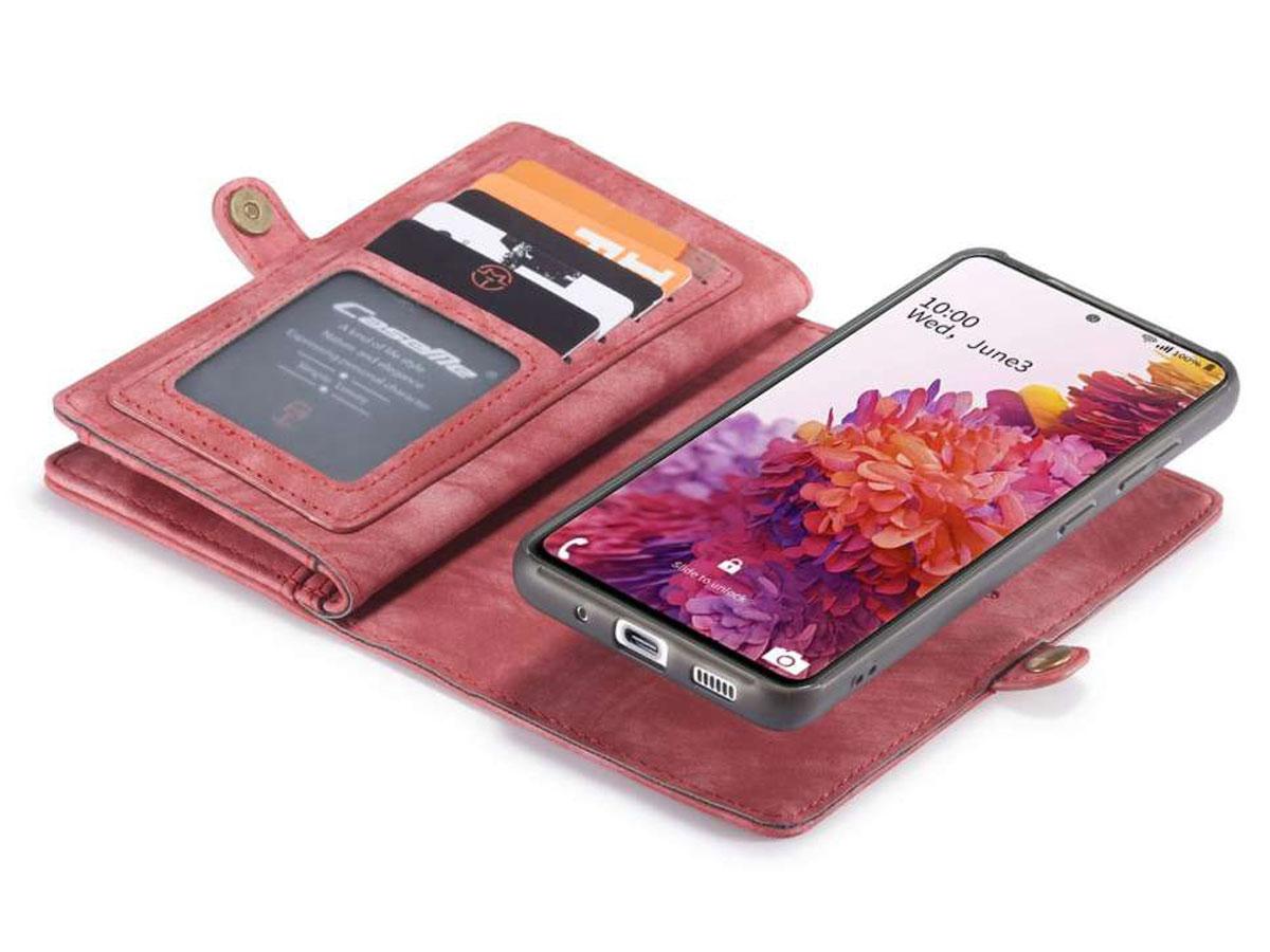 CaseMe 2in1 Wallet Ritsvak Case Rood - Samsung Galaxy S20 FE Hoesje
