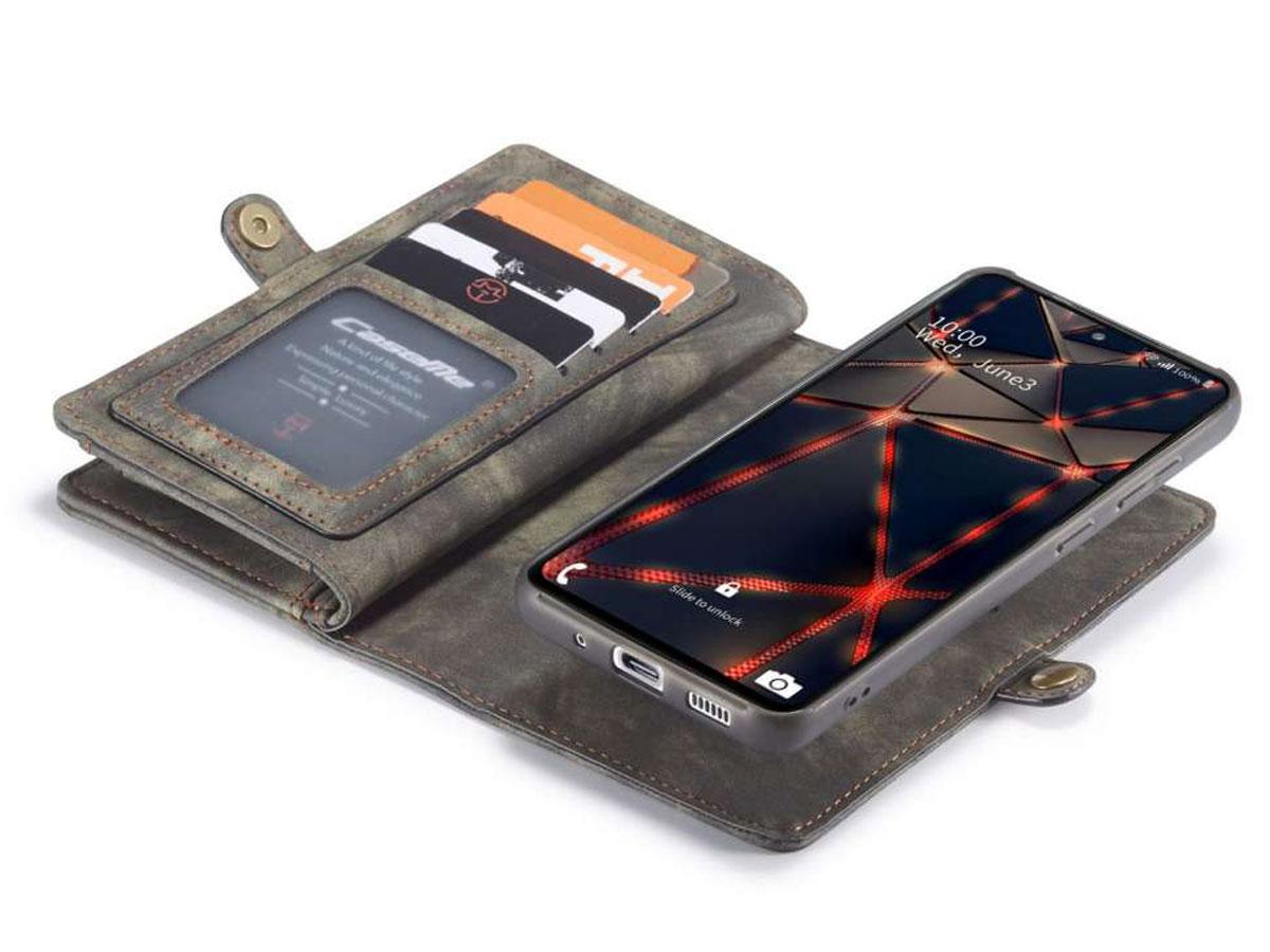 CaseMe 2in1 Wallet Ritsvak Case Zwart - Samsung Galaxy S20 FE Hoesje