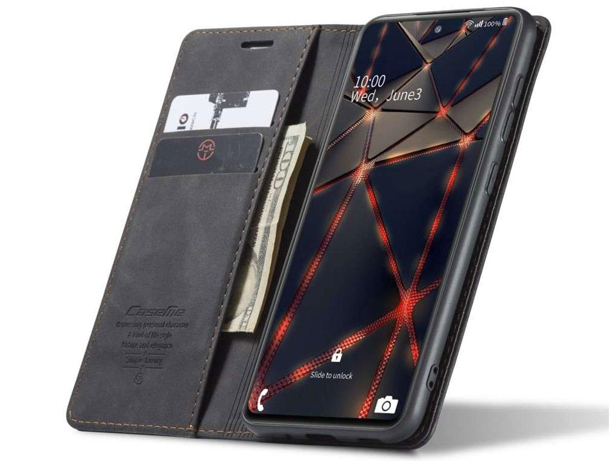CaseMe Vintage BookCase Zwart - Samsung Galaxy S20 FE hoesje