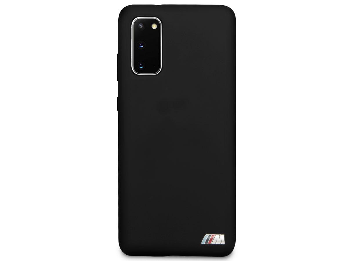 BMW M Sport Silicon Case Zwart - Samsung Galaxy S20 hoesje