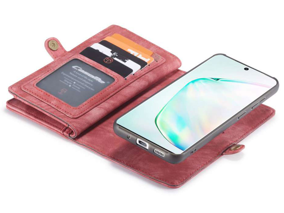 CaseMe 2in1 Wallet Ritsvak Case Rood - Samsung Galaxy S20 Hoesje