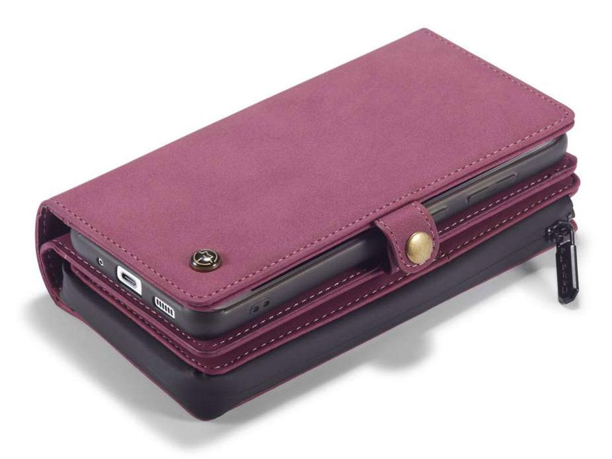 CaseMe Multi Wallet Ritsvak Case Rood - Samsung Galaxy S20 Hoesje