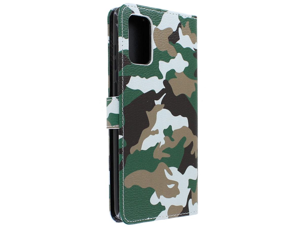 Book Case Mapje Camouflage - Samsung Galaxy S20+ hoesje