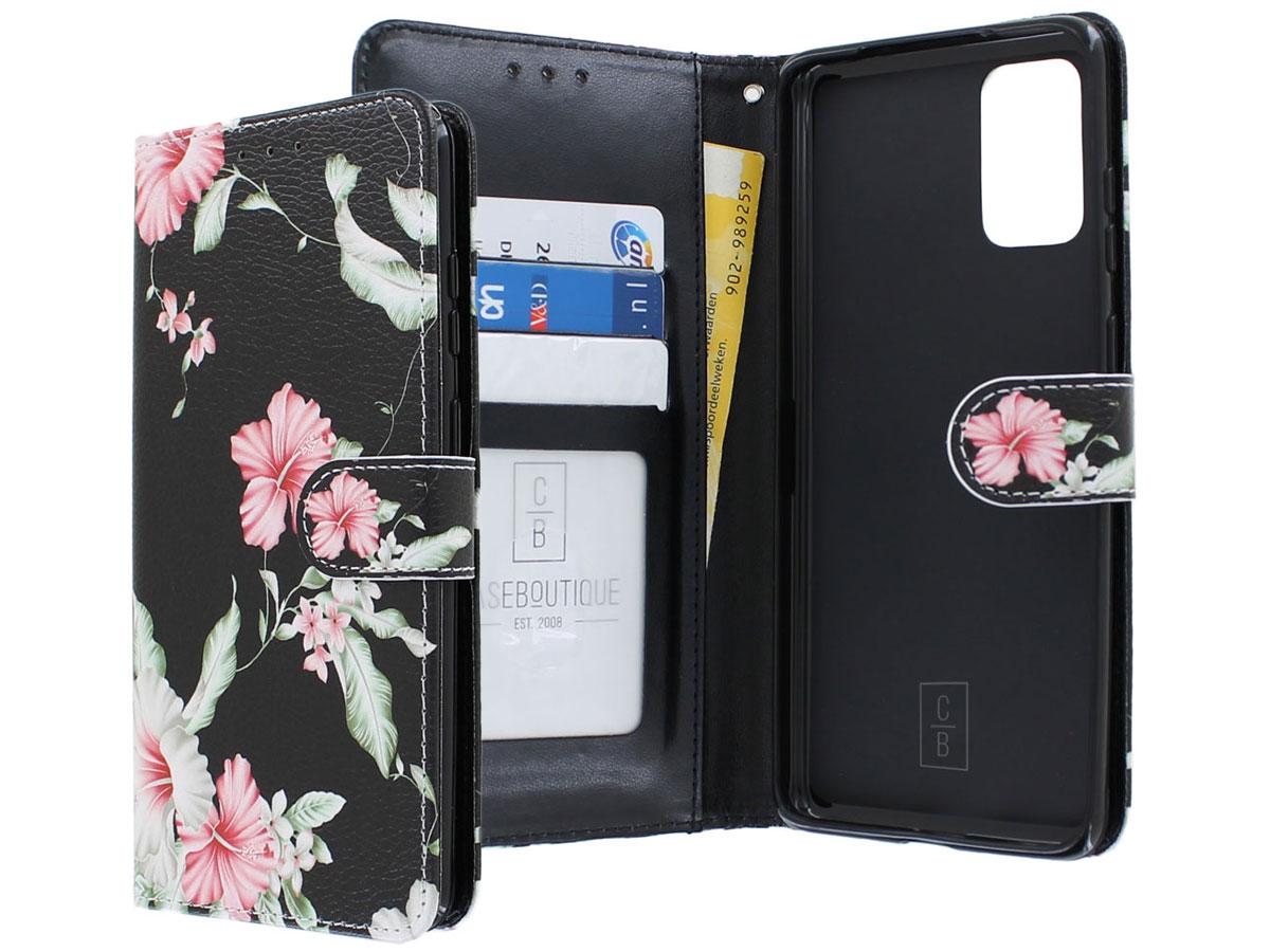 Book Case Mapje Bloemetjes - Samsung Galaxy S20+ hoesje