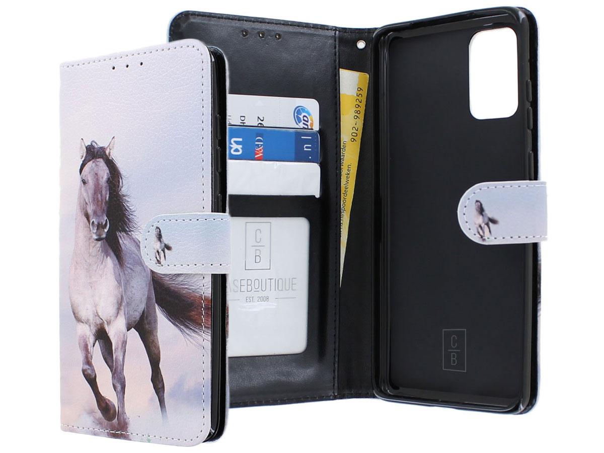 Book Case Mapje Paarden Print - Samsung Galaxy S20+ hoesje