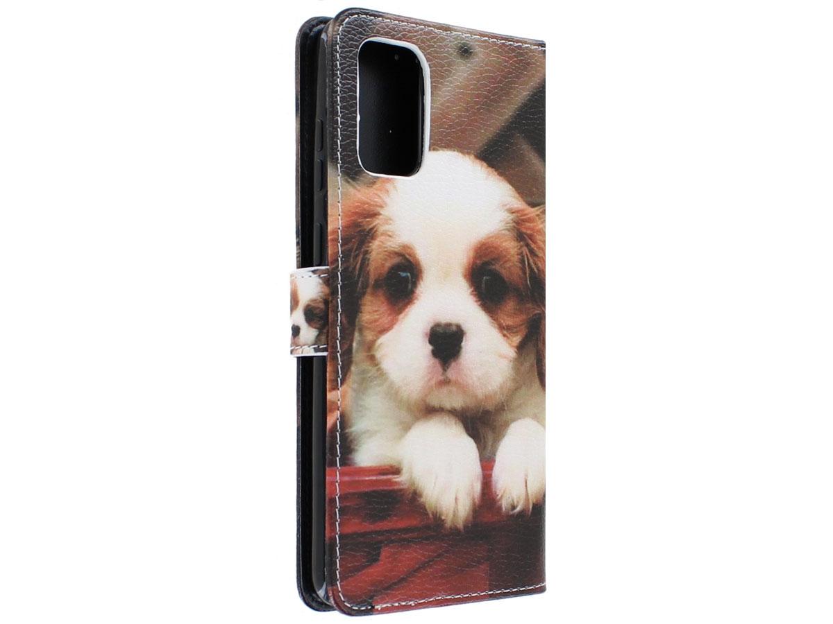 Book Case Mapje Honden Print - Samsung Galaxy S20+ hoesje