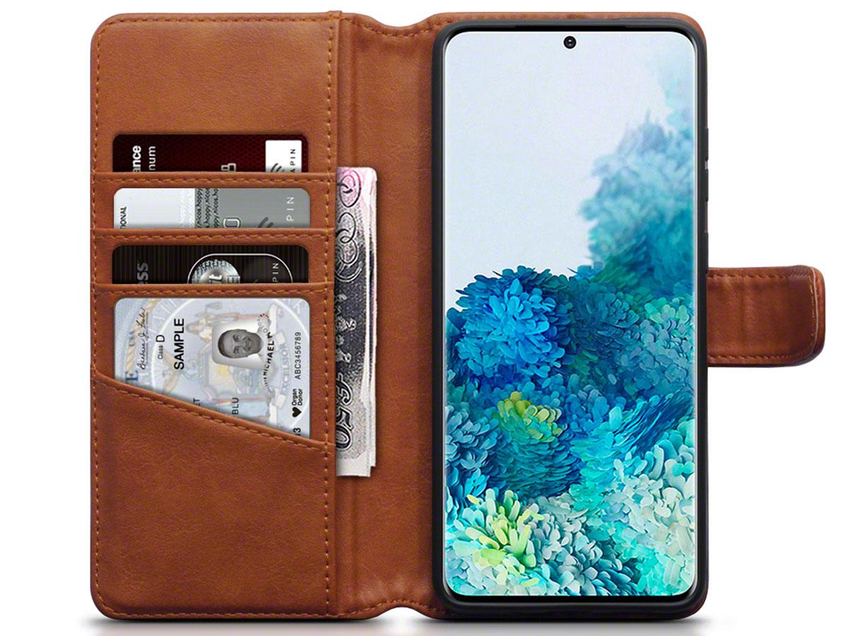 CaseBoutique Wallet Case Leer Cognac - Galaxy S20+ hoesje