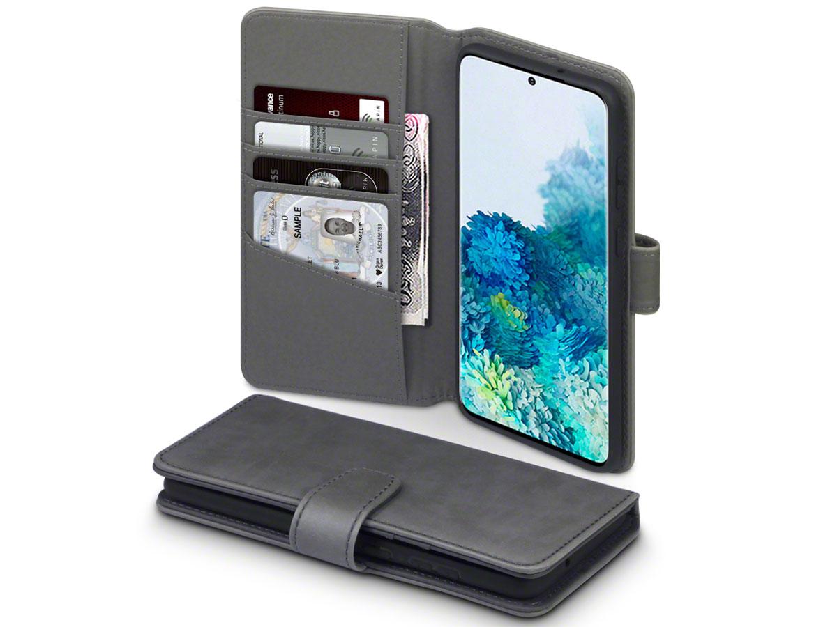CaseBoutique Wallet Case Leer Grijs - Galaxy S20+ hoesje