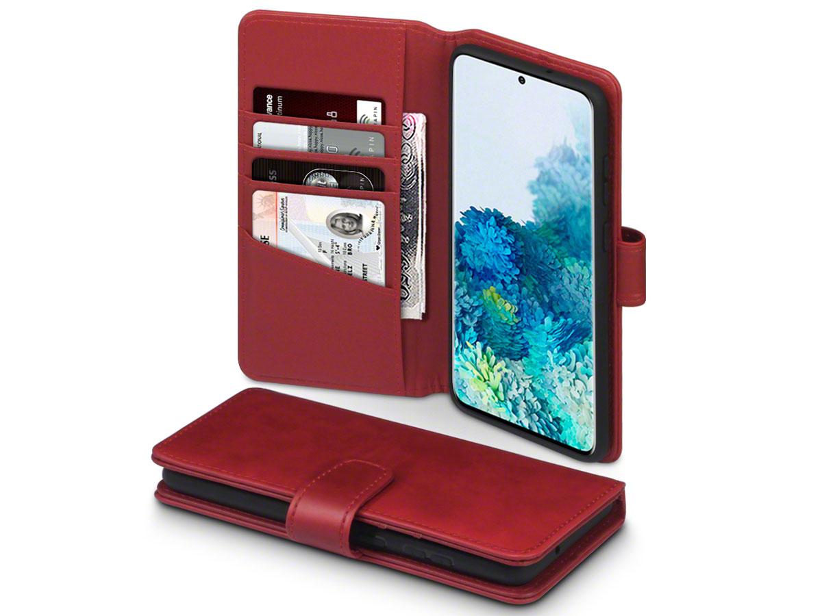 CaseBoutique Wallet Case Leer Rood - Galaxy S20+ hoesje