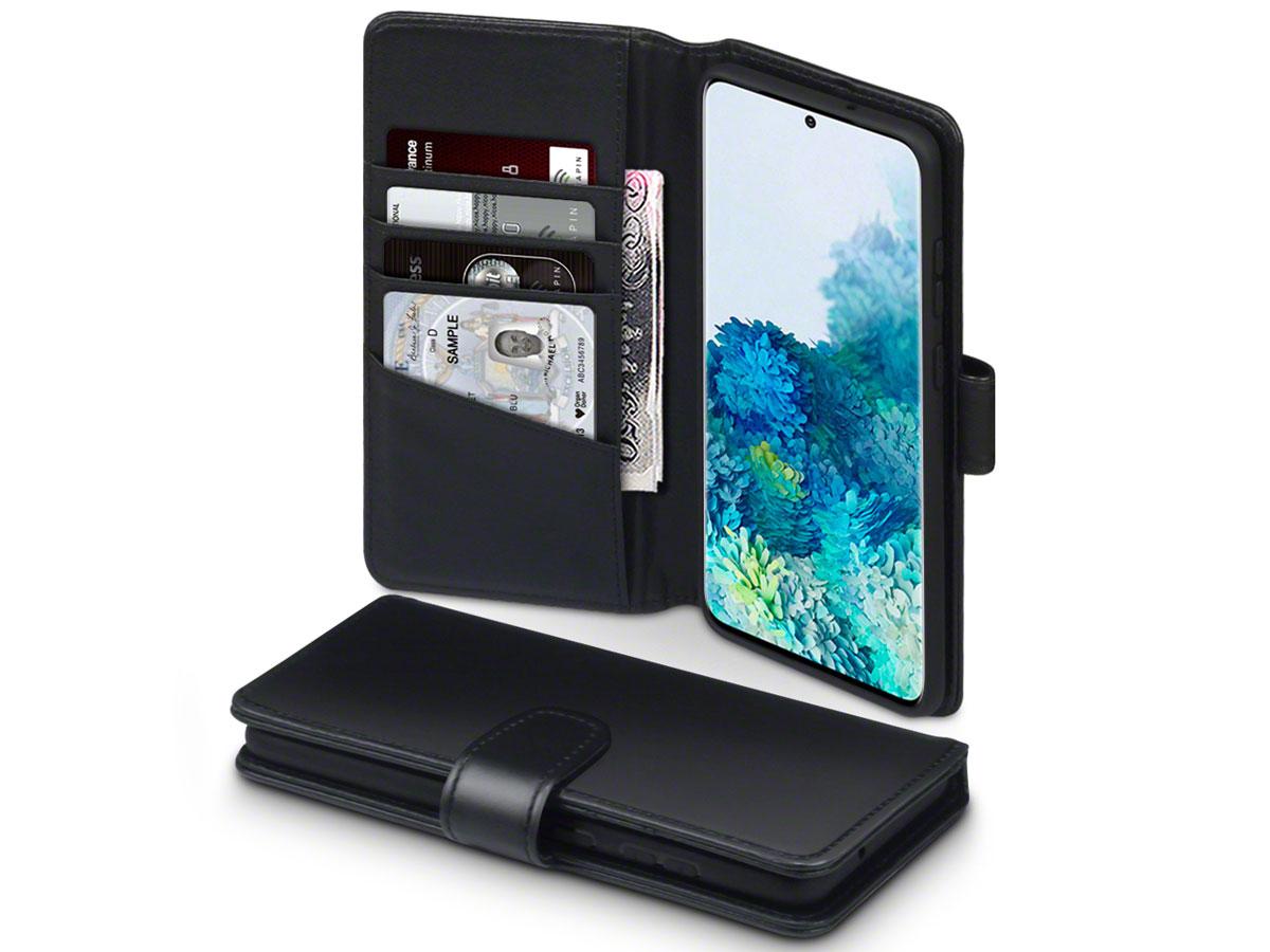 CaseBoutique Wallet Case Leer Zwart - Galaxy S20+ hoesje