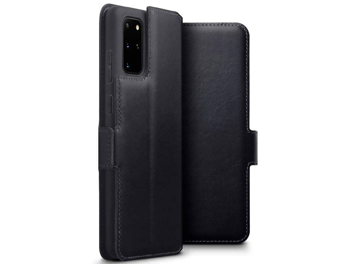 CaseBoutique Slim Case Zwart Leer - Galaxy S20+ hoesje