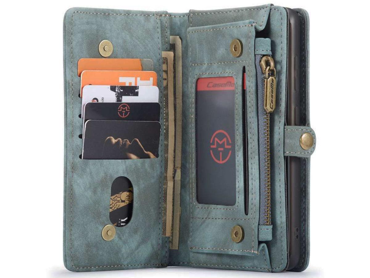 CaseMe 2in1 Wallet Ritsvak Case Blauw - Samsung Galaxy S20+ Hoesje
