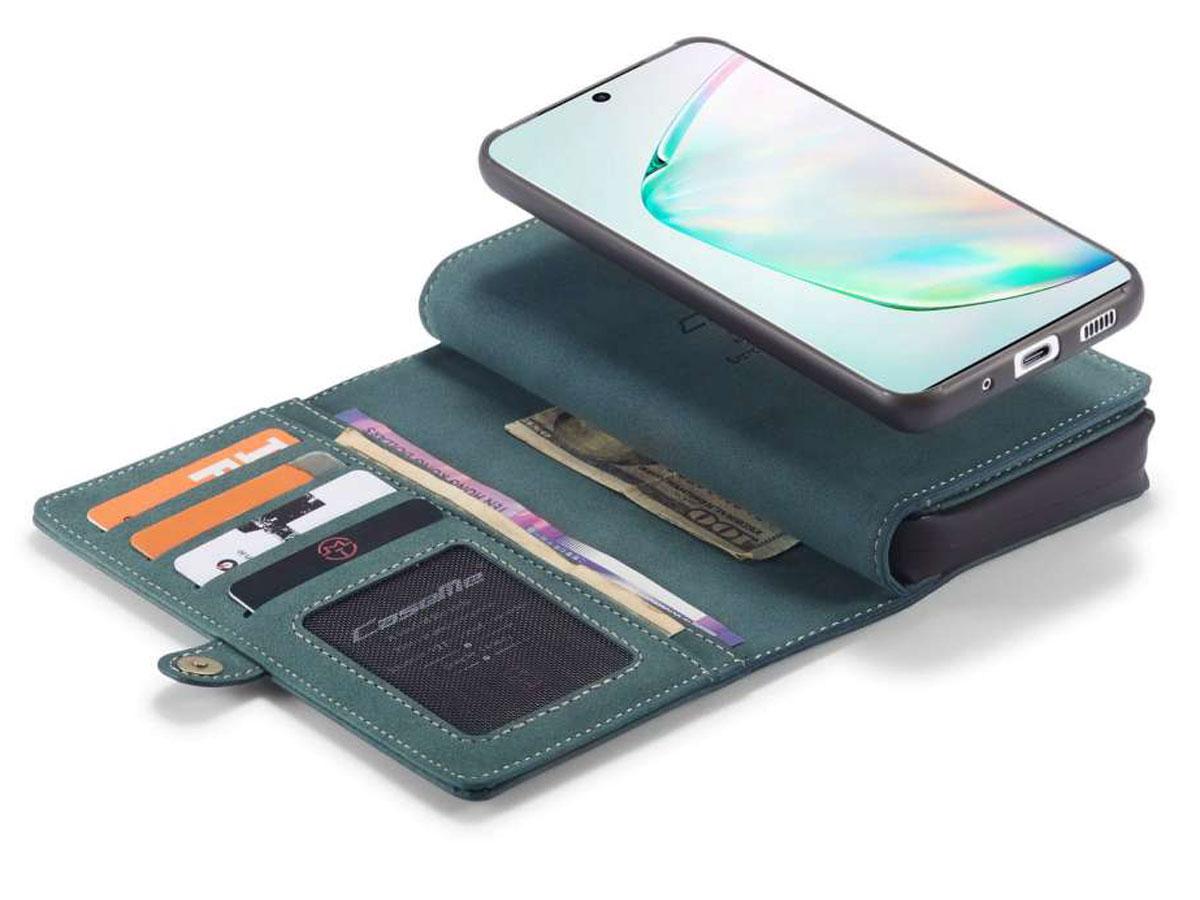 CaseMe Multi Wallet Ritsvak Case Blauw - Samsung Galaxy S20 Plus Hoesje