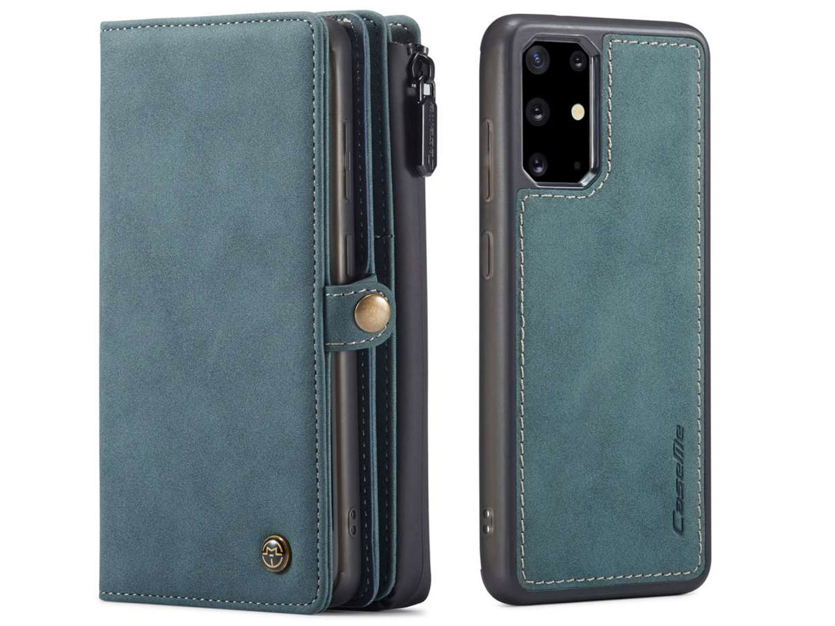 CaseMe Multi Wallet Ritsvak Case Blauw - Samsung Galaxy S20 Plus Hoesje