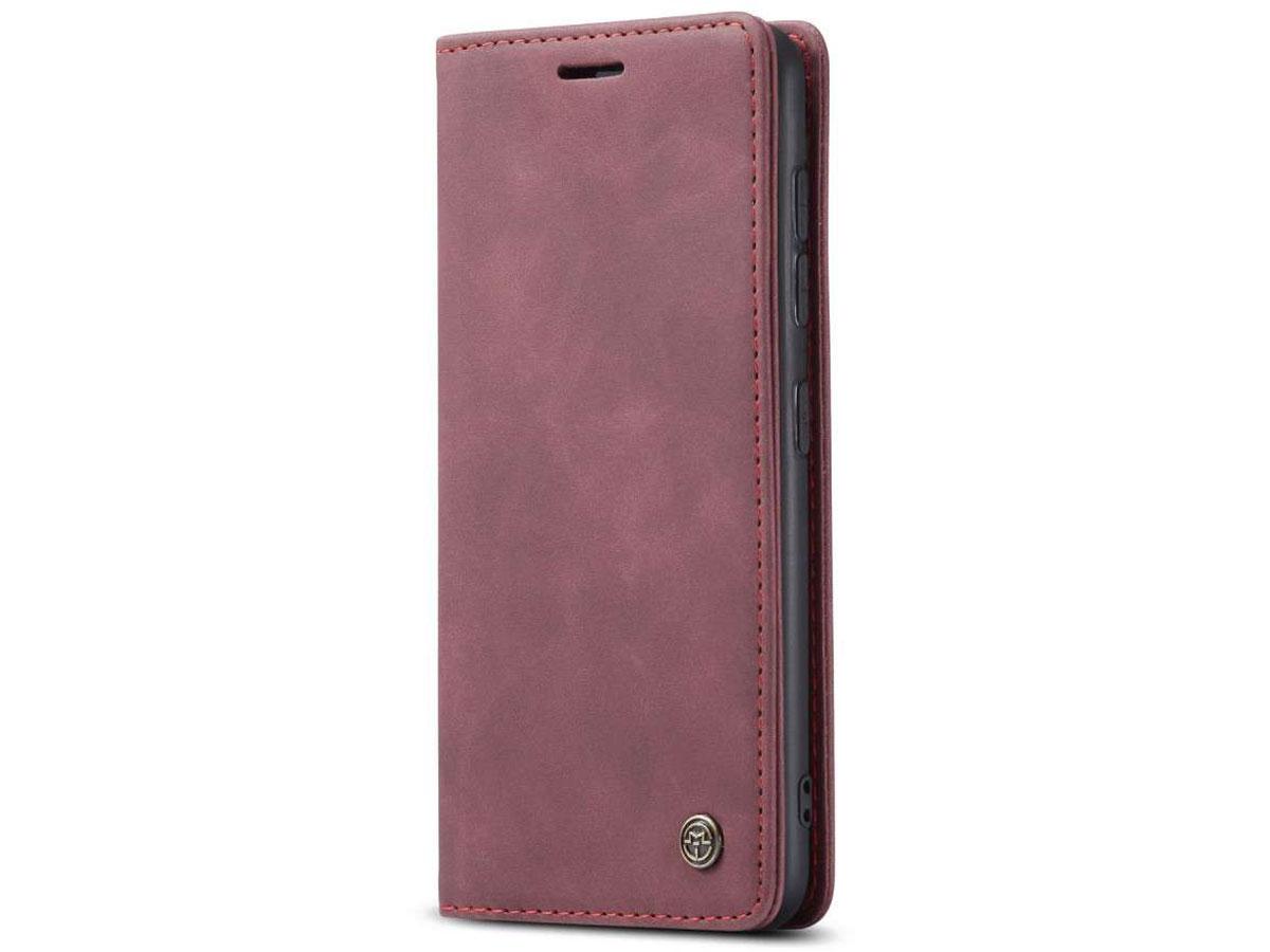 CaseMe Vintage BookCase Rood - Samsung Galaxy S20+ hoesje
