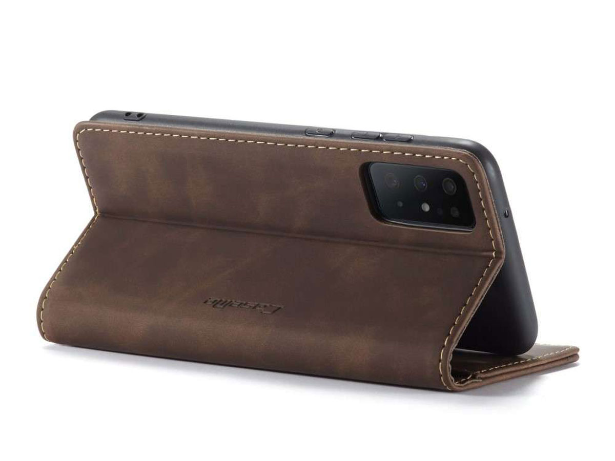 CaseMe Vintage BookCase Bruin - Samsung Galaxy S20+ hoesje