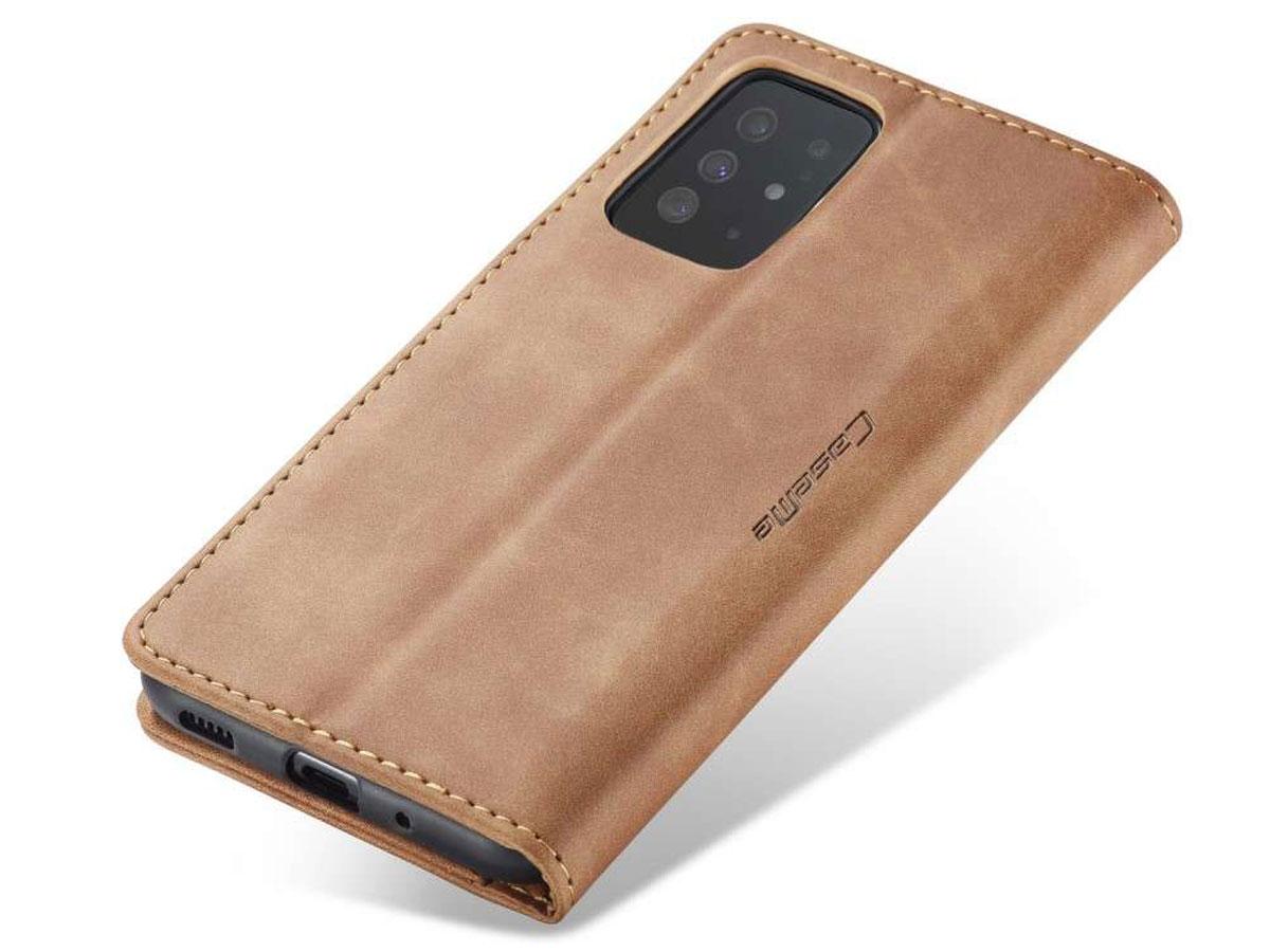 CaseMe Vintage BookCase Tan - Samsung Galaxy S20+ hoesje
