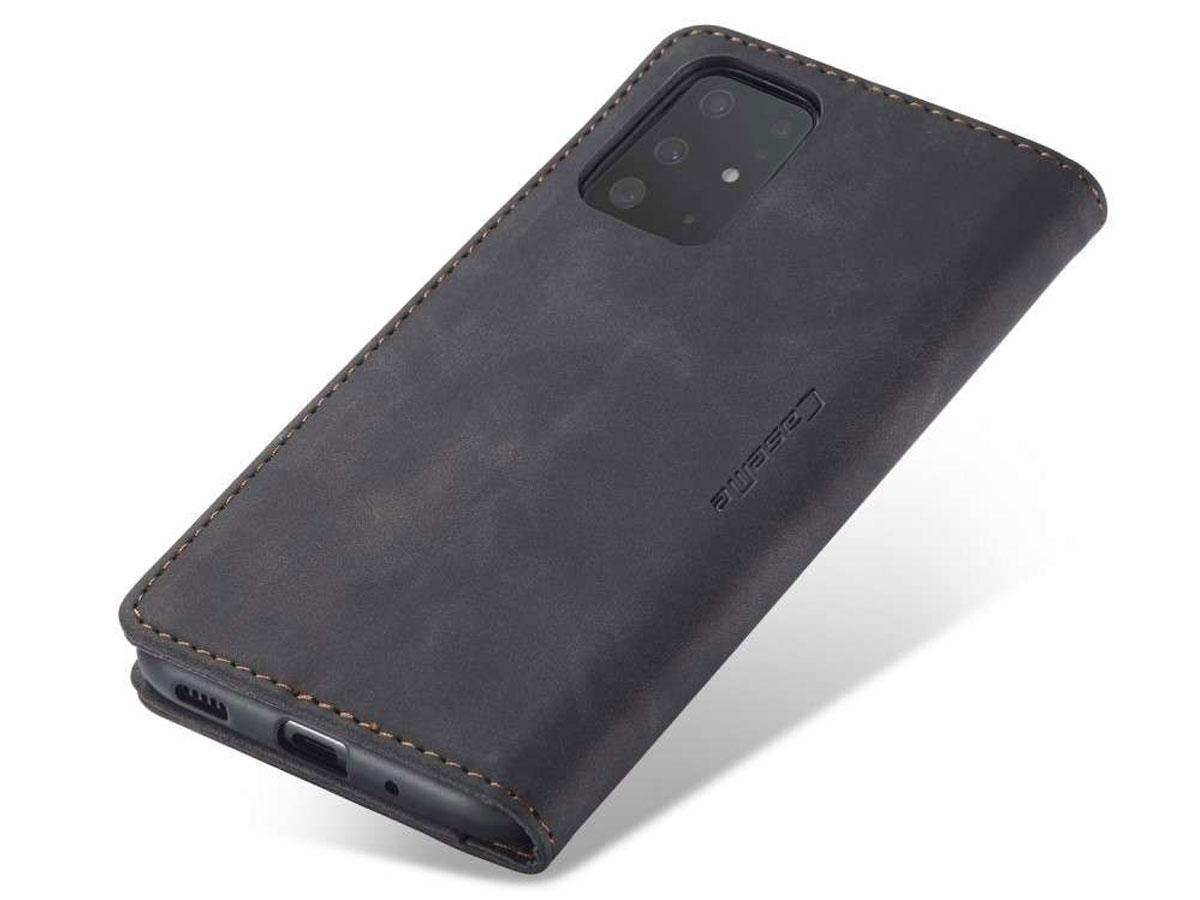 CaseMe Vintage BookCase Zwart - Samsung Galaxy S20+ hoesje