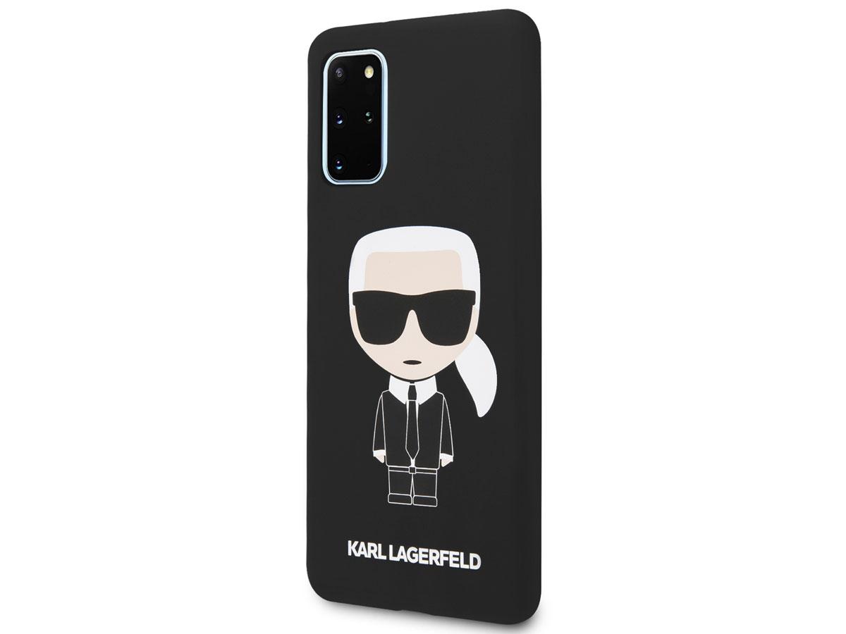 Karl Lagerfeld Iconic Case Zwart - Samsung Galaxy S20+ hoesje